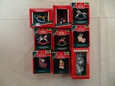 9 lot Hallmark Keepsake Collector's Club  Christmas Ornaments 80's 90's  BR-09