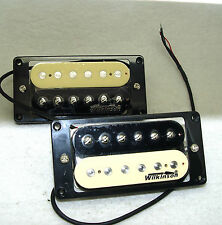 Genuine Wilkinson 'Zebra' Electric Guitar Humbucker Bridge & Neck 4-conductor