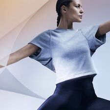 *NEW NIKE LAB JFS GREY WOMENS SPORT FITNESS YOGA BALLET GYM COVER UP SWEAT TOP*