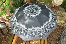 60er 70er True Vintage REGENSCHIRM 60s 70s VTG UMBRELLA Hippie Mary Poppins