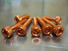 Fuel Cap Bolt Kit for Suzuki GSX 1300 R Hayabusa in orange anodised bolts