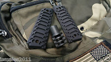 "1911 .45acp BLACK PUNISHER Muzzle Brake & ""Cobra"" Grips COMBO COMPENSATOR"