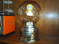OLD Nice FORD GUMBALL MACHINE clear door  model With  FREE ford GUMBALLS 1960's