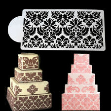 Damask Lace Border Cake Side Cupcake Stencil Sugarcraft Decoration Baking Tool .