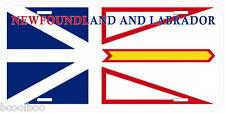 Newfoundland and Labrador Flag Canada Aluminum Novelty Car License Plate