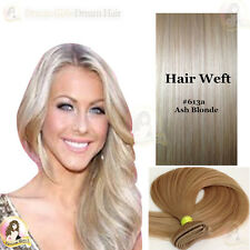 AAA India Remy100%Human Hair Extensions Weft #613a Light ash blonde Double Drawn