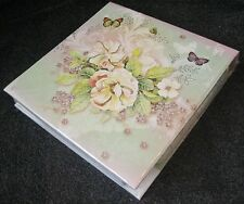 Carol Wilson Stationery Memo Pad Notepad Pen 150 Sheets Rose Butterfly floral