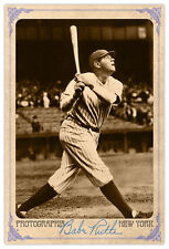 Baseball Legend Babe Ruth Vintage Photograph A++ Reprint Cabinet Card CDV
