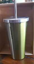 STARBUCKS Stainless Steel Cold Cup Tumbler coffee DOT Collection METAL STRAW