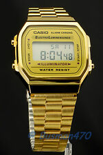 CASIO Men's Digital Retro 80s Vintage Gold A-168WG-9 Watch 100% Original New