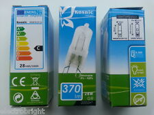 1 x KOSNIC G9 28w=40w DIMMABLE ENERGY SAVING bulbs clear 28 Watt Safety fused