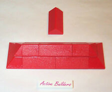 Lego Red Corner & Ridge Slopes 10223 House Castle Roof