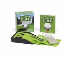 Desktop Golf Game Hours of Fun in the Office! 2 Balls 2 Clubs Fairway, Sand+Book