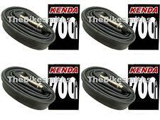 4 PAK KENDA 700C X18-23/25c 80mm Extra XXX Long Threaded Presta Valve BikeTubes
