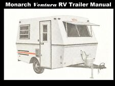 MONARCH VENTURA CAMPER TRAILER MANUALs 185pg w/ RV Appliance Service & Repair