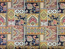 BABYLON TAPESTRY MULTI H2 TRADITIONAL GYPSY CURTAIN LIGHT UPHOLSTERY FABRIC