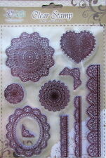 Clear Stamps Set Lace Doilies 10 Individual Stamps (Unmounted) NEW
