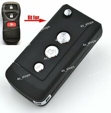 Flip Folding Remote Key Case Upgrade Shell For Nissan Frontier Murano Quest 3BTN