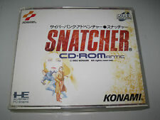 PC ENGINE SNATCHER CD-ROM ANTIC JAPONES COMPLETO HE SYSTEM CD-ROM