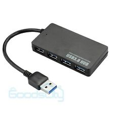 USB 3.0 High Speed 4 Port Splitter Adapter Hub for PC Computer Lap Notebook