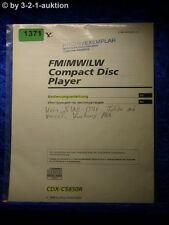Sony Bedienungsanleitung CDX C5850R CD Player (#1371)