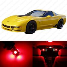 8 x Brilliant Red LED Interior Light Package For 1997 - 2004 Chevy Corvette C5