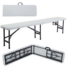 6' Portable Plastic In/Outdoor Picnic Party Camping Dining Folding Bench
