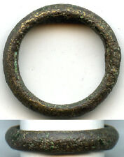 Ancient Celtic bronze finger ring (size ~ 5 1/2), 800-500 Bc, Danube Area