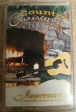 COUNTRY CHRISTMAS PEDAL STEEL GUITAR & FIDDLE WITH NATURE IMPRESSIONS CASSETTE