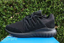 ADIDAS TUBULAR RADIAL SZ 11.5 CORE BLACK DARK GREY MONO S80115