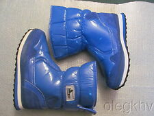 New Rubber Duck Snowjoggers Boots Shiny Blue size 9