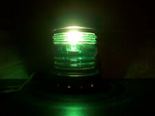 GREEN GLASS GLOBE ACCENT LIGHT FIXTURE PORCH GARDEN PATIO DECOR ON OFF SWTCH PLG