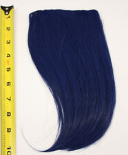 10'' Long Clip on Bangs Midnight Blue Cosplay Wig Hair Extension Accessory NEW