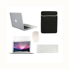"5 in 1 CLEAR Rubberized Case for Macbook Pro 13"" A1425 Retina+Key +LCD+BAG+MOUSE"