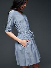 NWT SOLD OUT GAP celebrity style chambray denim shirt dress 4 6  P S