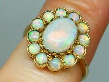 9k Gold 9ct Gold Art Deco vintage Natural opal ring size J