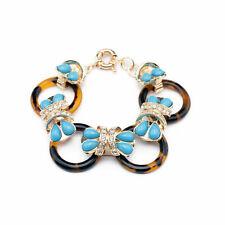 Bracelet Femme Turquoise Bleu Motif Ecaille de tortue Anneau Original CT5
