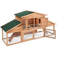 XXL Clapier Cage à lapins à deux niveaux avec bac en zinc pour petits animaux