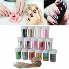 5 x Nail Art Foils Wraps Transfer Glitter Sticker Polish Decal Decoration UK