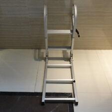 """Unique Boater Grade 4 Step 50"""" Aluminum Pontoon Boat Folding Ladder Sports ASL"""