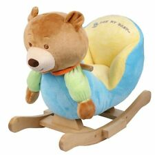 Plush Bear Baby Rocking Chair Kids Toy Ride Rocker Plush Toddler