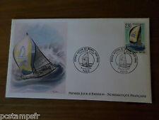 FRANCE 1990, FDC 1° JOUR, COURSE, VOILIER, BATEAU, timbre 2648, BOAT YACHT