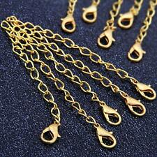 20 Gold Tone Necklace Chain Extenders Findings + Clasp HOT