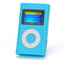 USB MP3 Player LCD Screen Support 32GB Micro SD TF Card Mini Blue