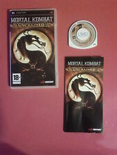 Mortal Kombat Unchained   - SONY PSP - PAL complet