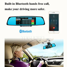 "7"" WiFi HD 1080p Android GPS Navigate Car DVR Camera Bluetooth Rearview Mirror"