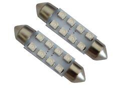 2x ampoule veilleuses C5W 12V 8LED SMD rouge 39mm éclairage intérieur coffre