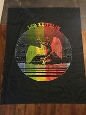 """Vintage Led Zeppelin Flag Banner Psychedelic Rock Classic Colorful 57"""" x 47"""""""