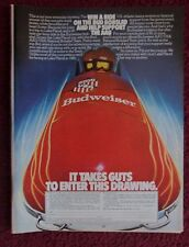 1980 Print Ad Bud Budweiser Beer ~ AAU / USA National Bobsled Team