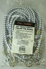 """24"""" HEAVY DUTY BUNGEE TIE DOWNS 10 Pack 12 mm Elastic Cords NEW Coated Hooks"""